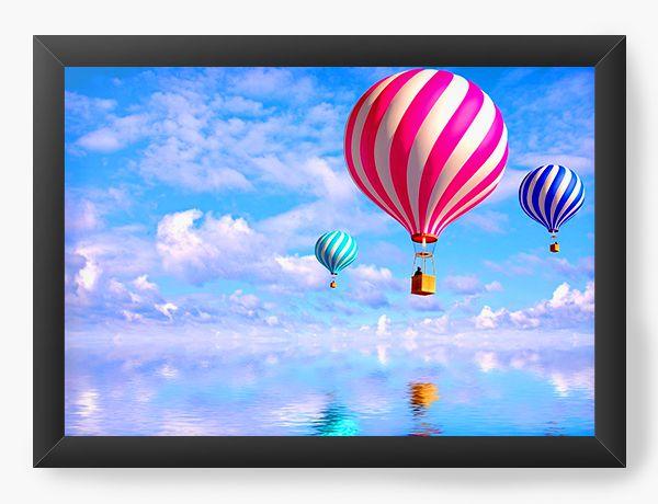 Quadro Decorativo Balloons in the Sky - Nerd e Geek - Presentes Criativos