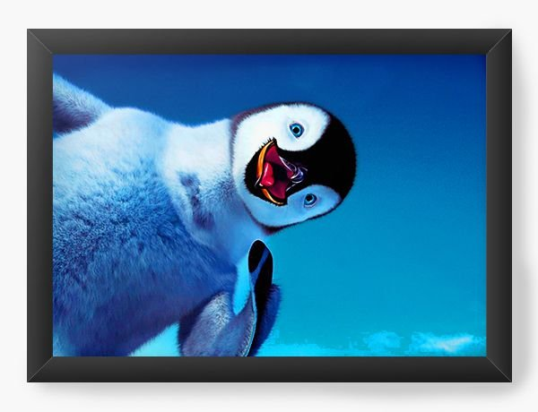Quadro Decorativo Happy Feet - Nerd e Geek - Presentes Criativos