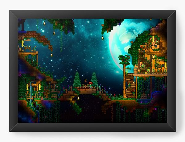 Quadro Decorativo Forest Game - Nerd e Geek - Presentes Criativos
