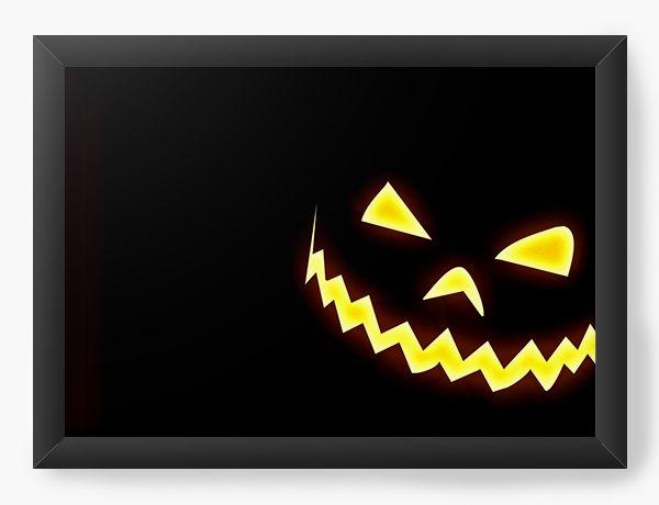 Quadro Decorativo A4 (33X24) Halloween - Nerd e Geek - Presentes Criativos