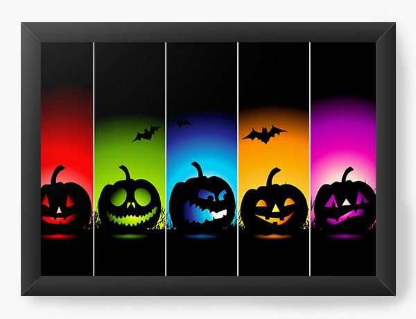 Quadro Decorativo A4 (33X24) Halloween Colors - Nerd e Geek - Presentes Criativos
