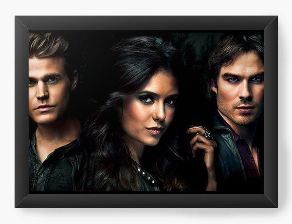 Quadro Decorativo A4 (33X24) The Vampire Diaries - Nerd e Geek - Presentes Criativos