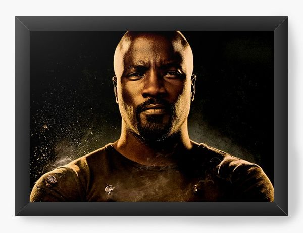 Quadro Decorativo Luke Cage - Nerd e Geek - Presentes Criativos