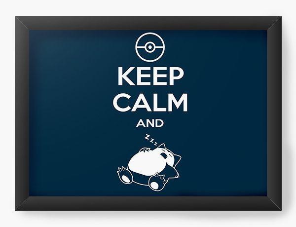Quadro Decorativo Keep Calm And Slep - Nerd e Geek - Presentes Criativos