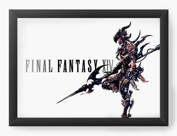 Quadro Decorativo A4 (33X24) Final Fantasy XVI - Nerd e Geek - Presentes Criativos