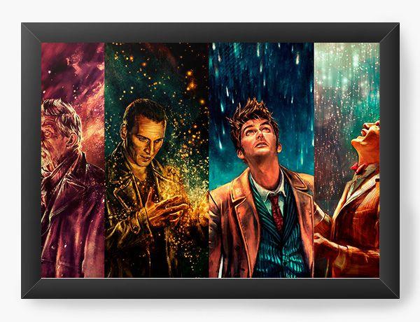Quadro Decorativo Doctor Who - Nerd e Geek - Presentes Criativos