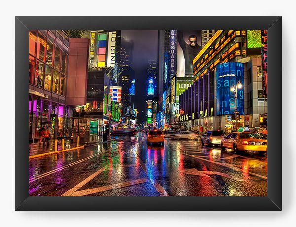 Quadro Decorativo New York - Time square - Nerd e Geek - Presentes Criativos