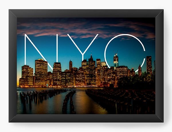 Quadro Decorativo New York - Nerd e Geek - Presentes Criativos