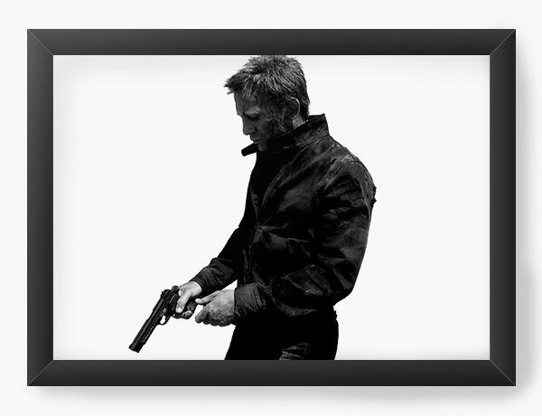 Quadro Decorativo 007 James Bond - Nerd e Geek - Presentes Criativos