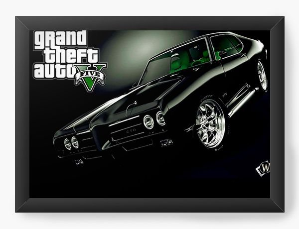 Quadro Decorativo GTA - Grand Thef Auto - Nerd e Geek - Presentes Criativos
