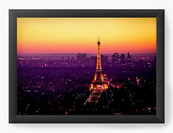 Quadro Decorativo Paris - Nerd e Geek - Presentes Criativos