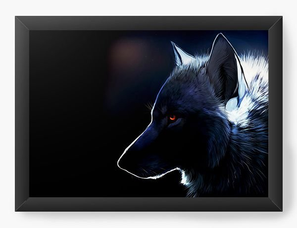 Quadro Decorativo Wolf - Nerd e Geek - Presentes Criativos