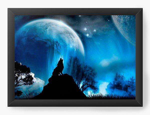 Quadro Decorativo Wolf - Lobo - Nerd e Geek - Presentes Criativos