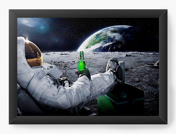 Quadro Decorativo Astronauta - Nerd e Geek - Presentes Criativos