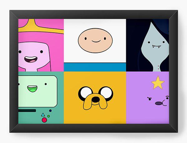 Quadro Decorativo A4 (33X24) Adventure Time - Serie de Desenho - Nerd e Geek - Presentes Criativos