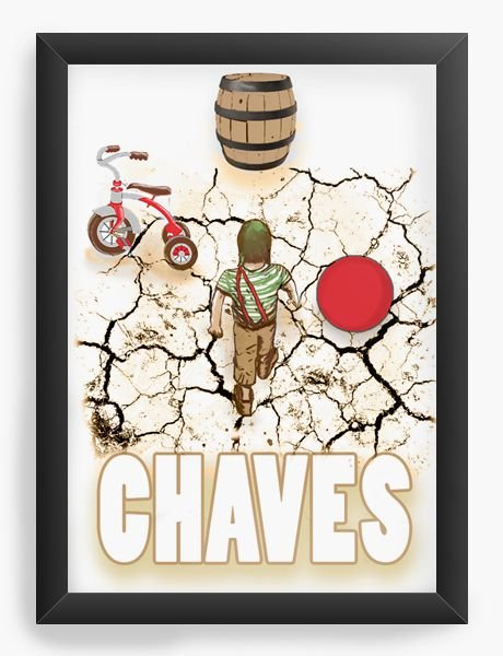 Quadro Decorativo A4 (33X24) Chaves - Nerd e Geek - Presentes Criativos