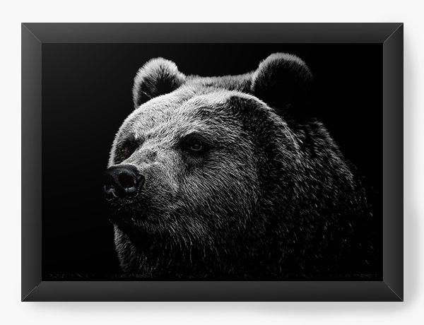 Quadro Decorativo Urso - Nerd e Geek - Presentes Criativos