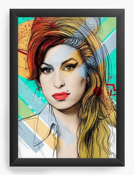 Quadro Decorativo Amy Winehouse - Nerd e Geek - Presentes Criativos