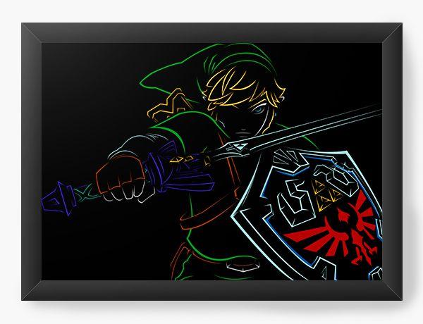 Quadro Decorativo The Legend of Zelda Link - Nerd e Geek - Presentes Criativos