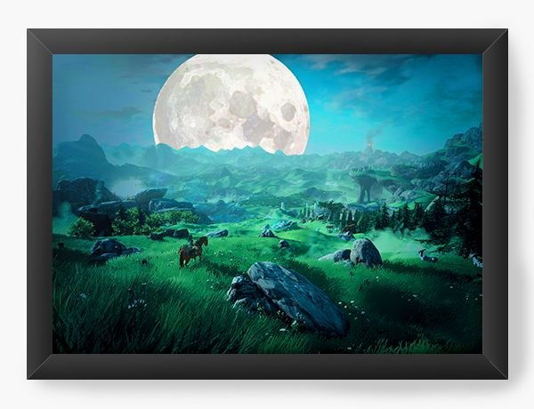 Quadro Decorativo The Legend of Zelda Paisagem