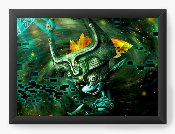 Quadro Decorativo Universo dos Games - Nerd e Geek - Presentes Criativos