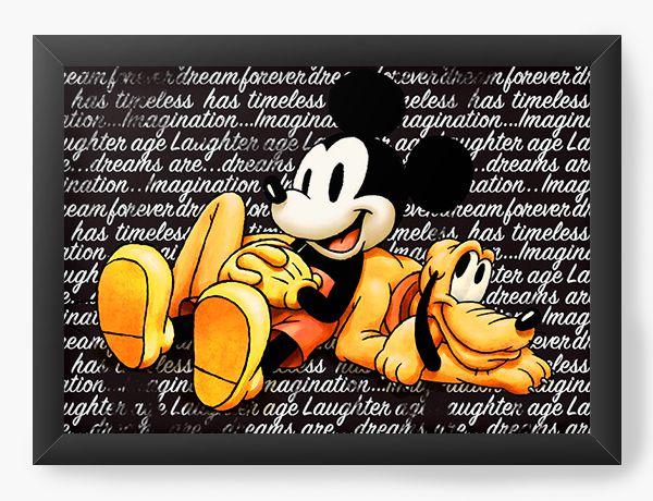 Quadro Decorativo Pluto and Mickey Mouse