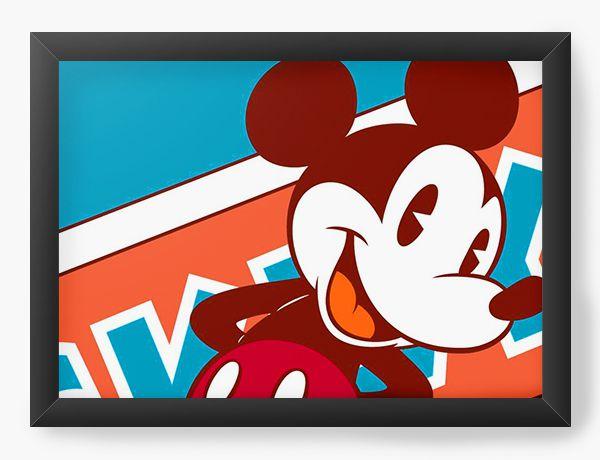 Quadro Decorativo Mickey Mouse old school