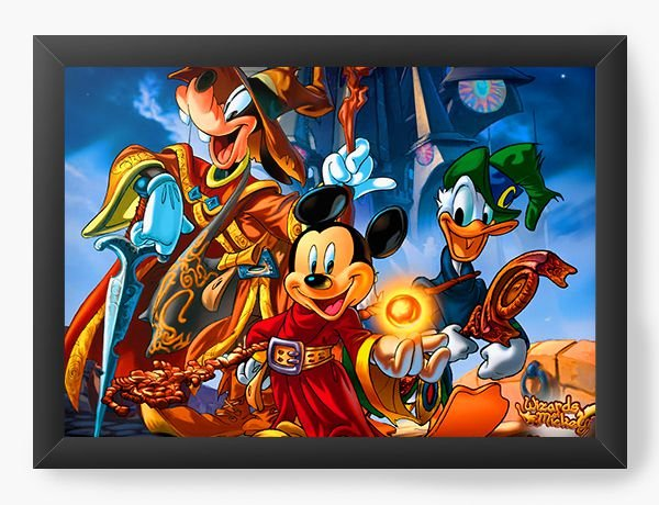 Quadro Decorativo Mickey Pateta e Pato Donald