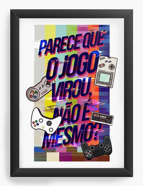 Quadro Decorativo A4 (33X24) O Jogo - Nerd e Geek - Presentes Criativos
