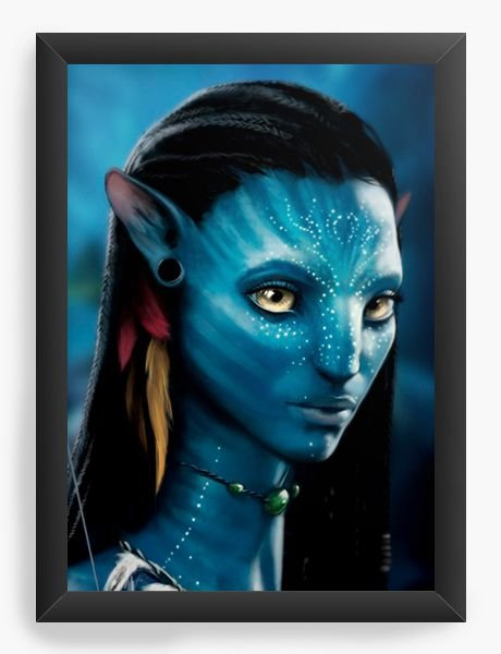 Quadro Decorativo Avatar Sweet Neytiri - Nerd e Geek - Presentes Criativos