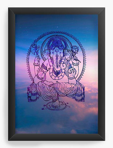 Quadro Decorativo Buda Vibe - Nerd e Geek - Presentes Criativos