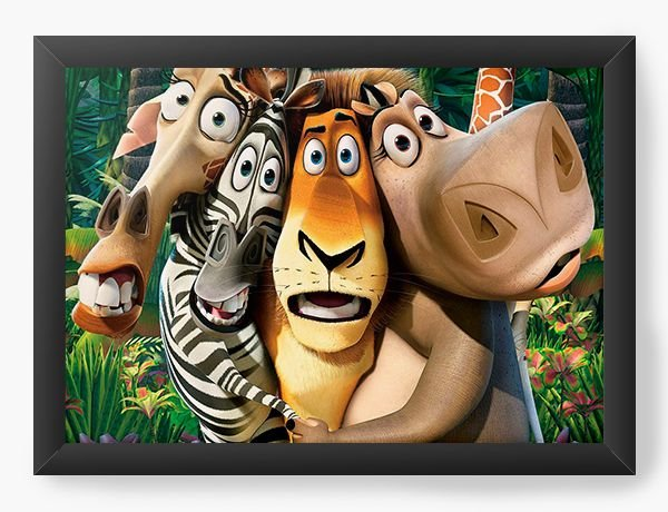 Quadro Decorativo Madagascar - Nerd e Geek - Presentes Criativos