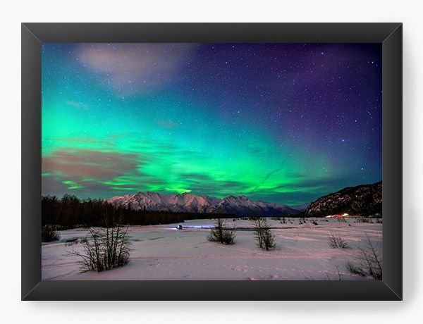 Quadro Decorativo Aurora Boreal - Nerd e Geek - Presentes Criativos