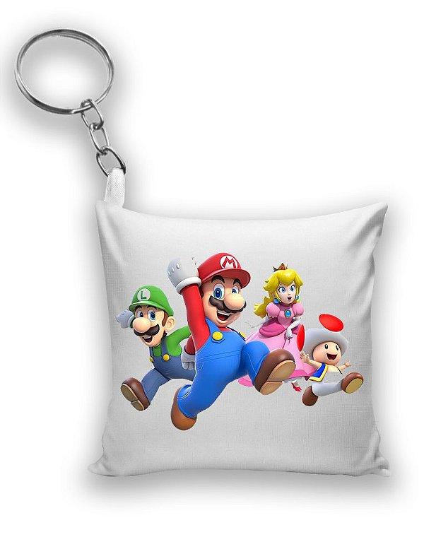 Chaveiro Mario, Luigi e Princesa - Nerd e Geek - Presentes Criativos