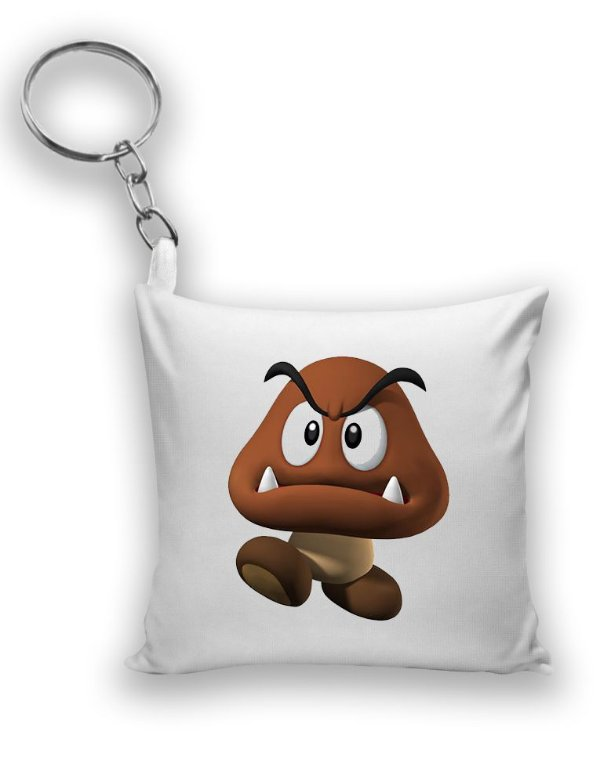 Chaveiro Super Mario Word - Goomba - Nerd e Geek - Presentes Criativos