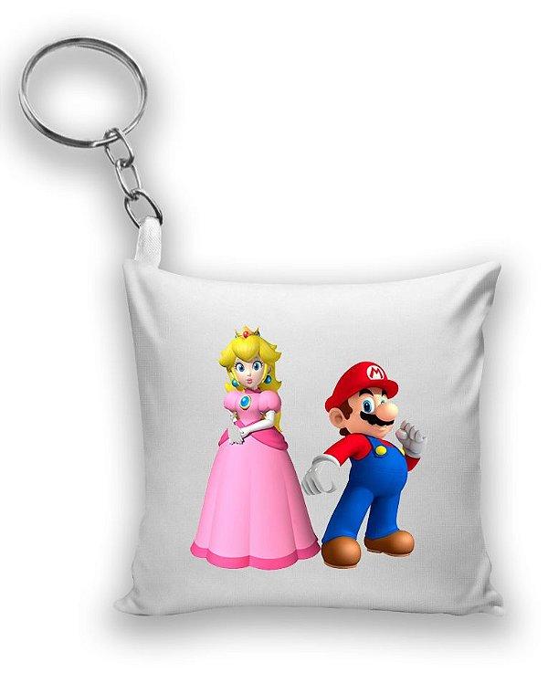 Chaveiro Princesa Peach e Mario - Nerd e Geek - Presentes Criativos