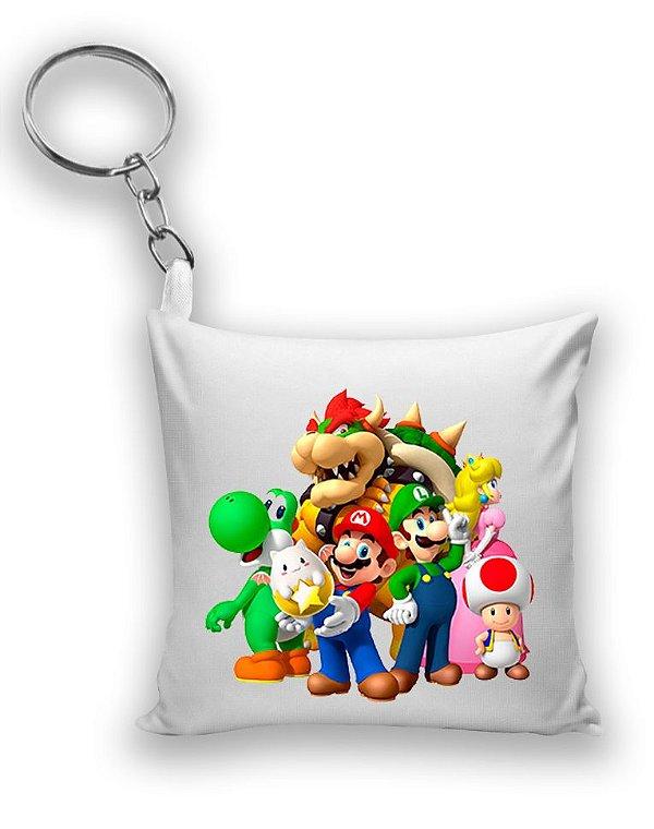 Chaveiro Princesa Peach, Bowser, Mario e sua Turma
