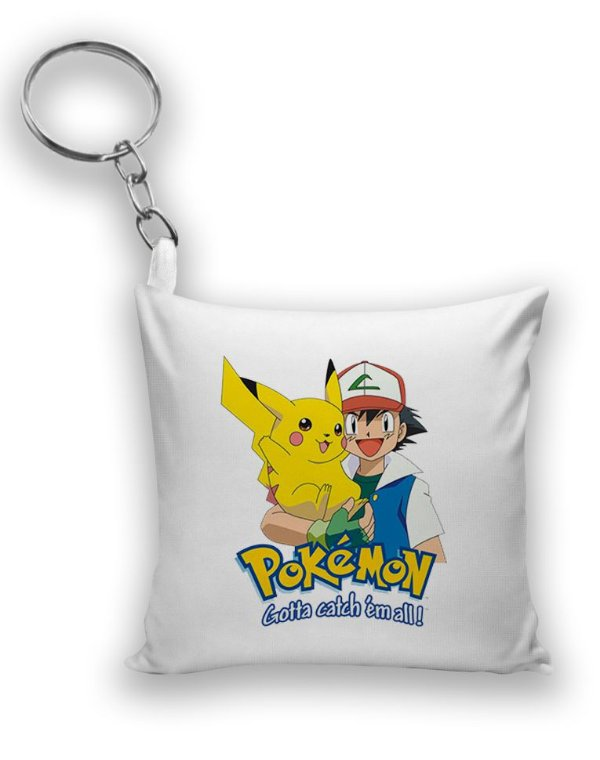 Chaveiro Pikachu e Ash - Pokemon - Nerd e Geek - Presentes Criativos