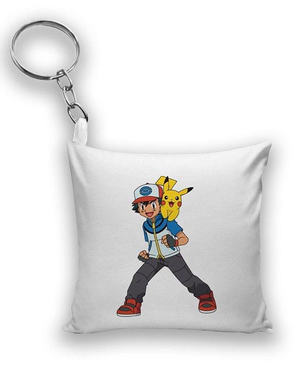 Chaveiro Ash e Pikachu - Pokemon