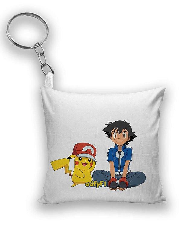 Chaveiro Ash e Pikachu - Pokemon - Nerd e Geek - Presentes Criativos