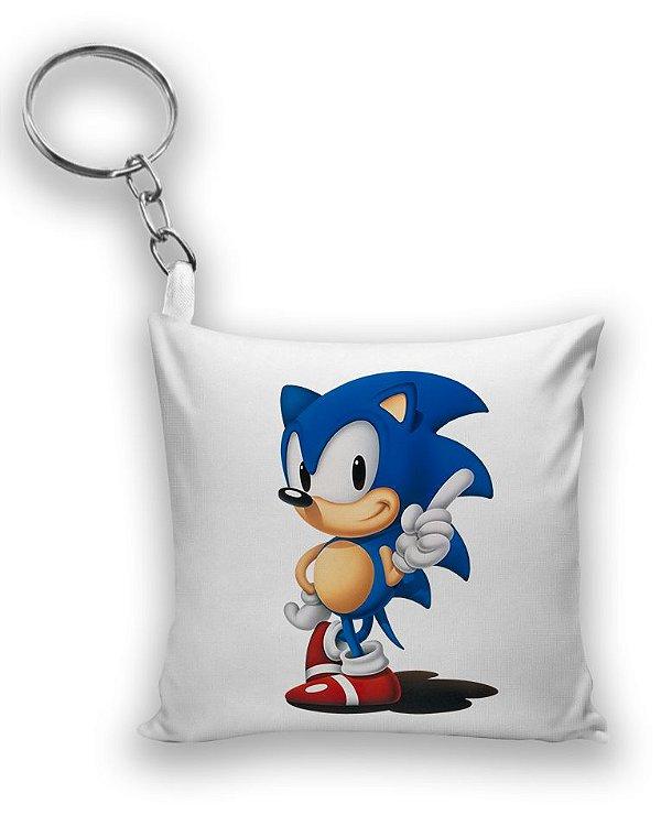 Chaveiro Sonic - Game - Nerd e Geek - Presentes Criativos