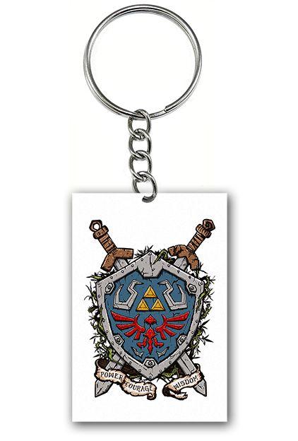 Chaveiro Escudo Zelda - Nerd e Geek - Presentes Criativos