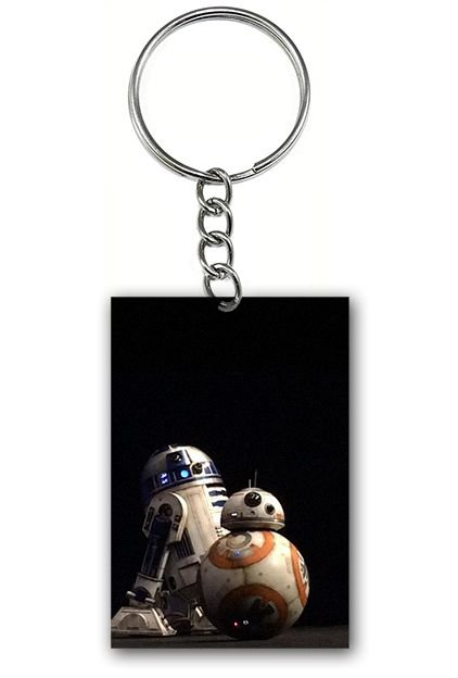 Chaveiro Star Wars - R2-D2 E BB-8