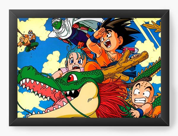 Quadro Decorativo A4 (33X24) Dragon Ball - Nerd e Geek - Presentes Criativos