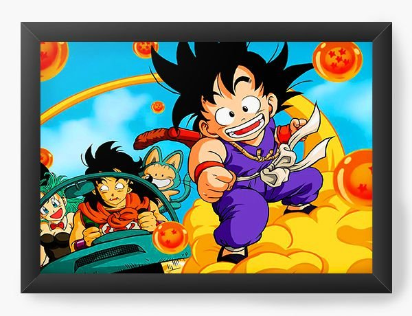 Quadro Decorativo A4 (33X24) Dragon Ball Anime - Nerd e Geek - Presentes Criativos