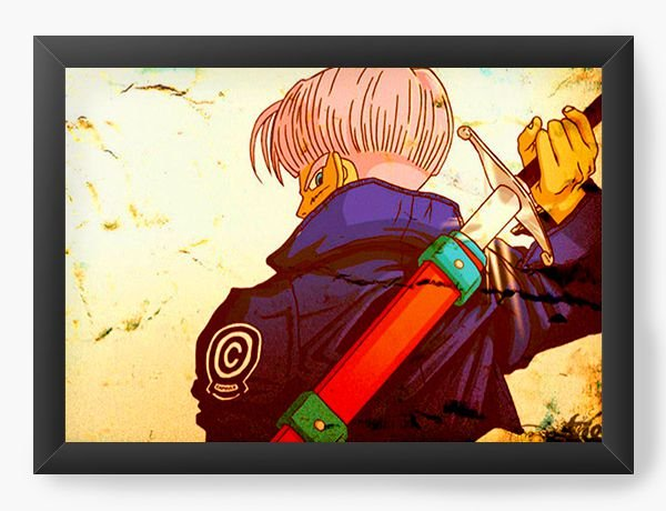 Quadro Decorativo Dragon Ball Trunks - Nerd e Geek - Presentes Criativos