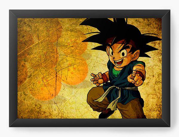 Quadro Decorativo A4 (33X24) Dragon Ball Desenho - Nerd e Geek - Presentes Criativos