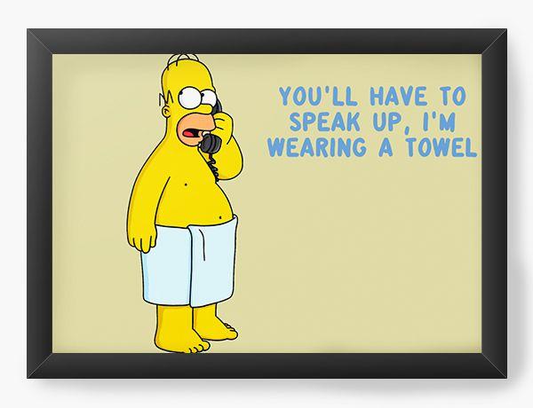 Quadro Decorativo Homer Simpson quotes - Nerd e Geek - Presentes Criativos