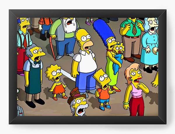 Quadro Decorativo A4 (33X24) Os Simpsons - Personagens - Nerd e Geek - Presentes Criativos