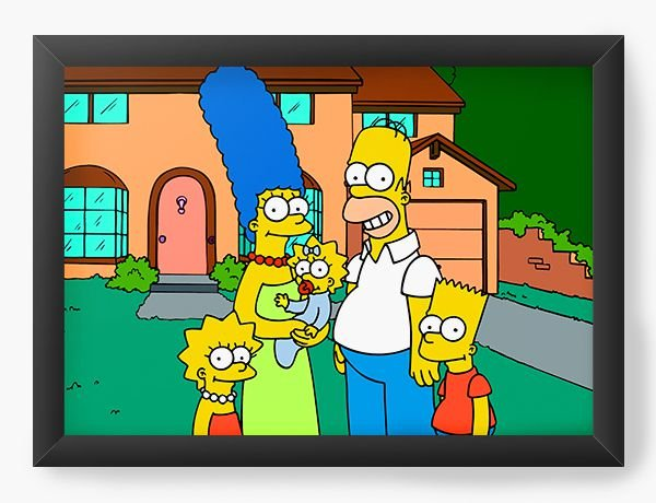 Quadro Decorativo The Simpsons at home